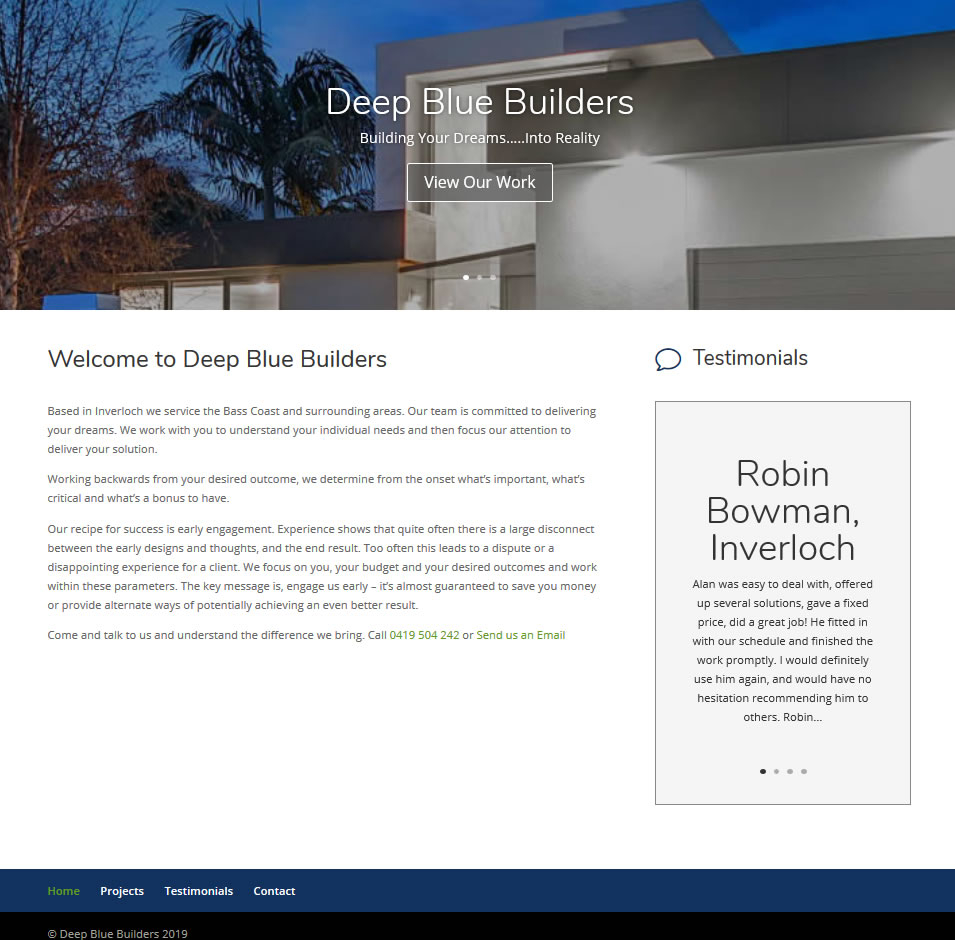 Deep Blue Builders Inverloch